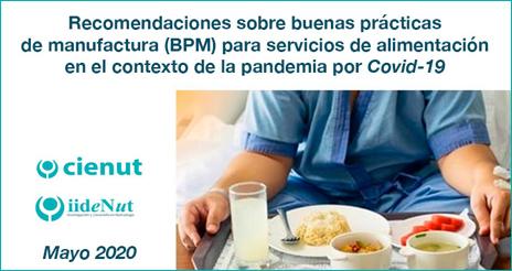Nuevo documento sobre BPM en los servicios de alimentación, en el contexto de la Covid-19