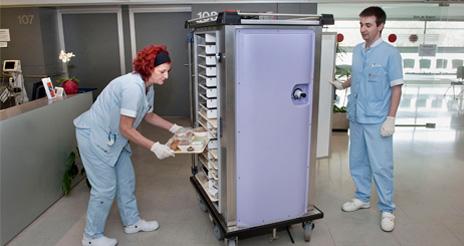 El diseño de cocinas hospitalarias. Sistemas de distribución de comida (y 3)