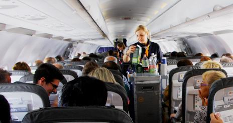 El mercado del catering de aviones y el de alta gama cae entre el 72 y el 75% en 2020